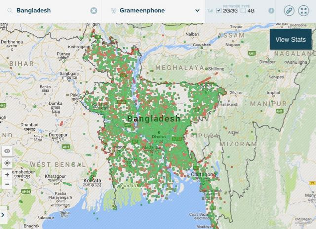 3G coverage map grameen