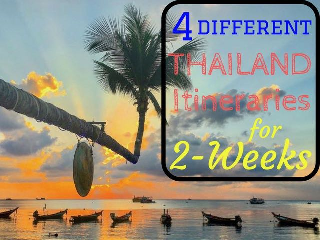 14 days itineraries for thailand