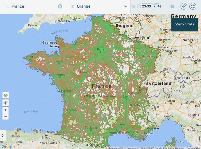 4g coverage map orange
