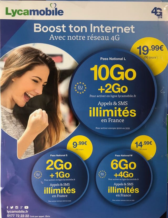 lycamobile prepaid sim card france