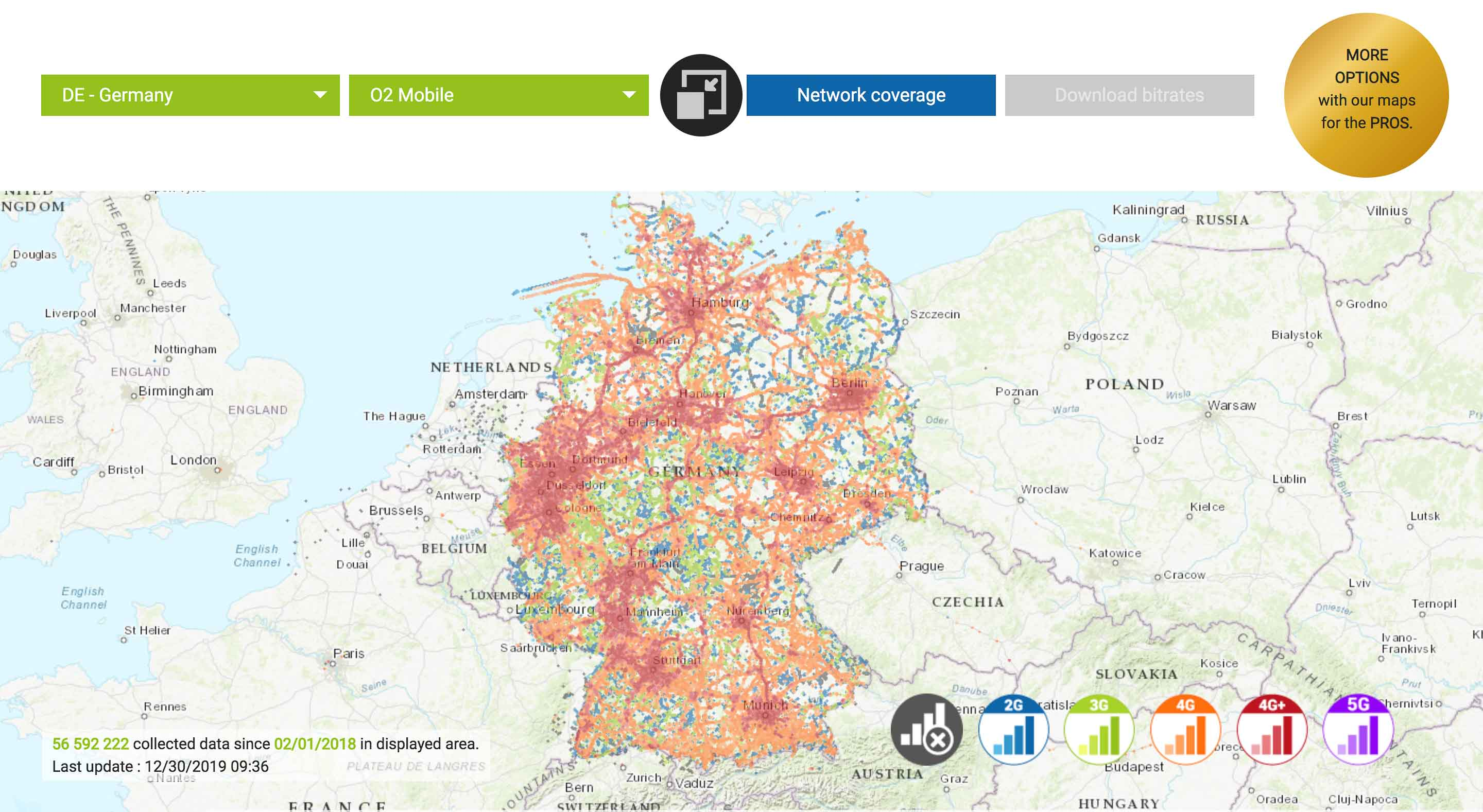 network coverage o2 germany