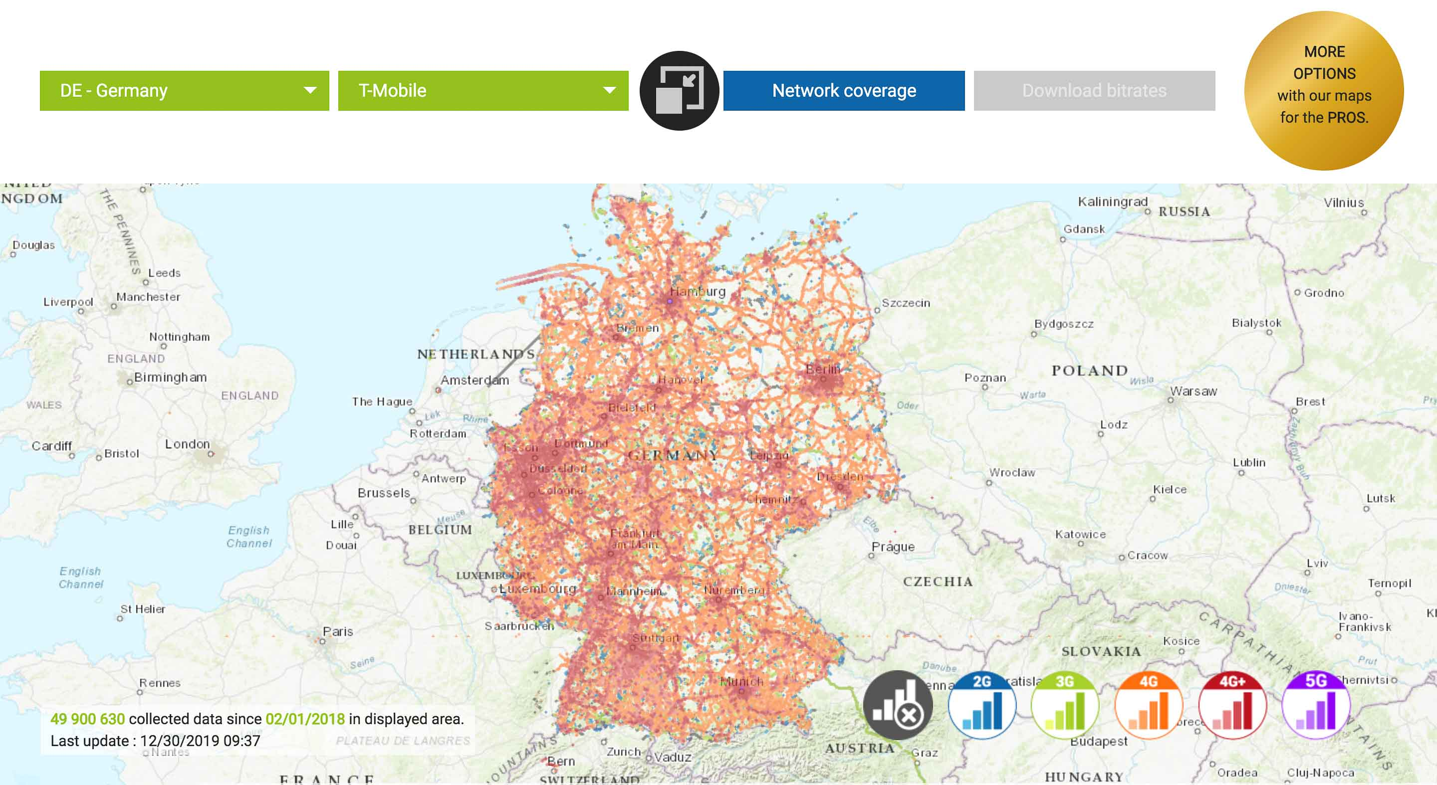 network coverage t mobile germany