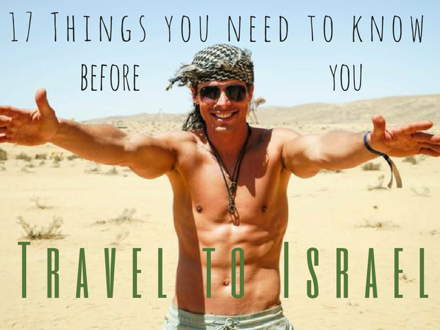 things you need to know before you travel to israel