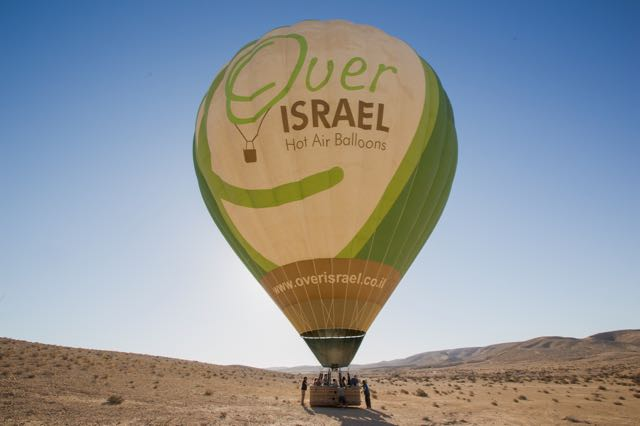unique things to do in israel hot air balloon 2