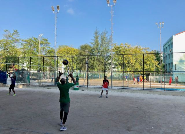 play sports with locals in hulhumale
