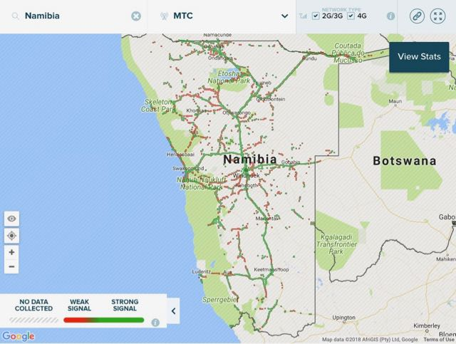 network coverage map mtc namibia