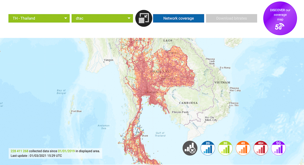 coverage map dtac thailand