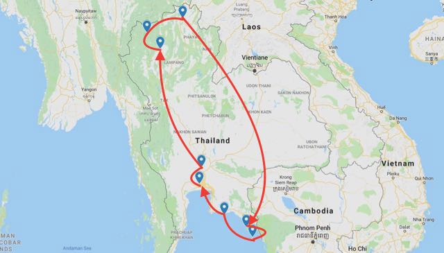 2 weeks in northern thailand