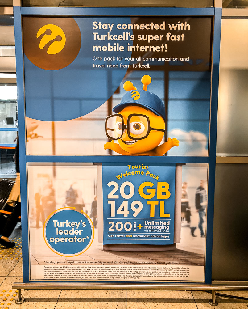 prepaid sim card turkey