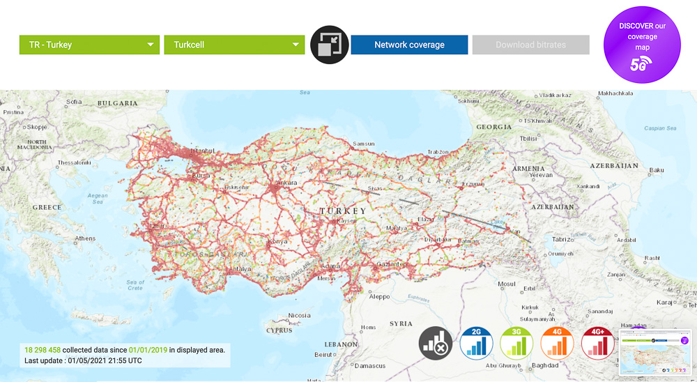 turkcell turkey mobile coverage map