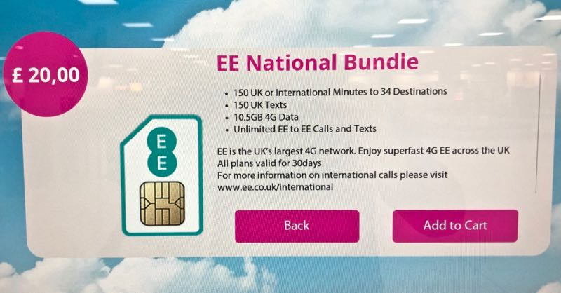 ee uk sim card london stansted