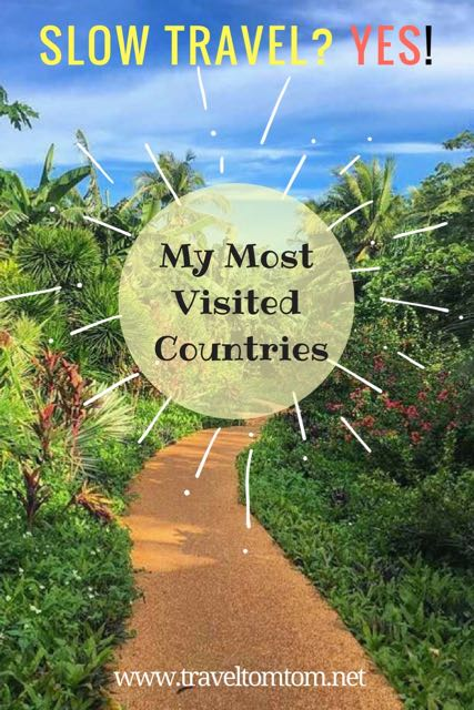 My most visited countries 25