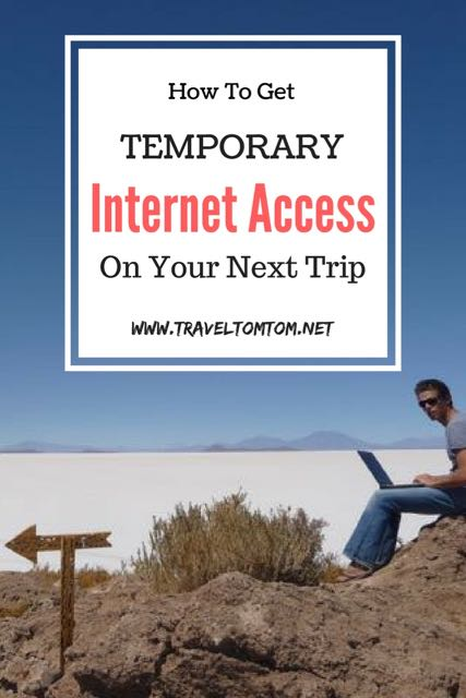 how to get temporary internet access while traveling