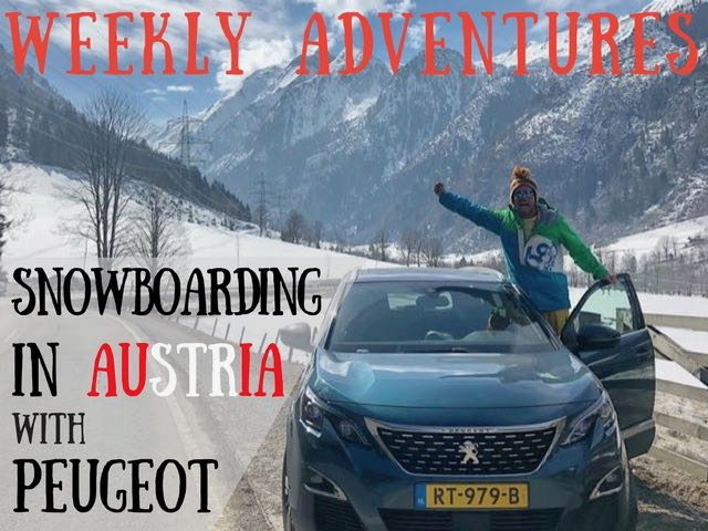 snowboarding in austria with peugeot